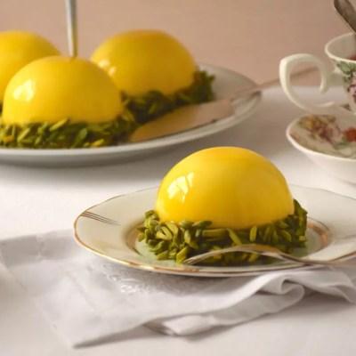 Dômes citron-pistache
