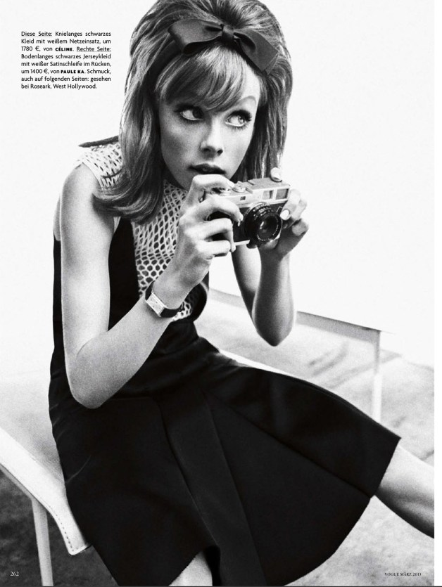 Edie Campbell in 'Zeitsprung' by Sebastian Kim Vogue Germany