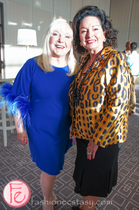 Sara Waxman (left) wearing a stunning blue dress from LIST Roma that she got from Italy