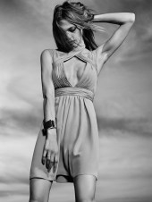 Saint Laurent Resort 2014 Collection Taps Sasha Pivovarova