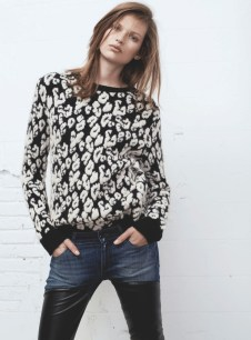 Bette Franke is Rock and Roll Chic for Mango Fall 2013 Collection