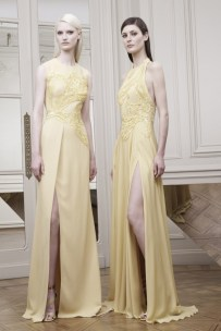 FORMAL WEDDING: If you are attending a more formal wedding ceremony, then keep it classic with a long gown. These looks from Elie Saab bring some modern glamour with high slits and interesting necklines. Pair with a strappy heel for the ultimate statement.