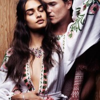 Lights of Love: Gizele + Johann Model Couples Jewelry in ELLE France