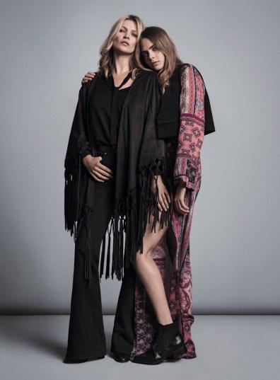 Kate Moss & Cara Delevingne Mango Fall 2015 Ad Campaign