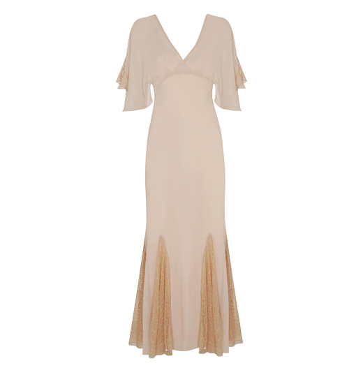 Miss Selfridge Inspired By angel sleeve maxi dress