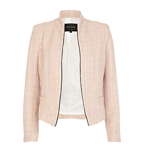 River Island pink structured crop jacket