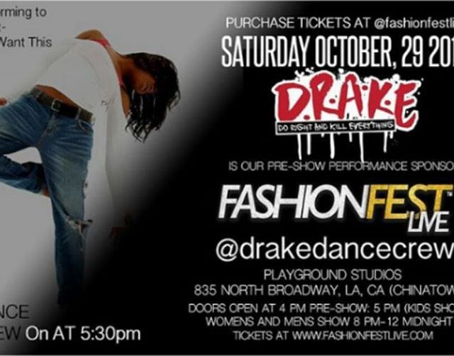 drakedancecrew will be the preshow entertainment for fashionfestlive ONLY 2hellip