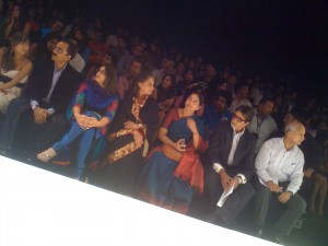 IMG 0364 300x225 Amitabh Bachchan makes his debut Fashion Week appearance @ Nachiket Barves show at LFW