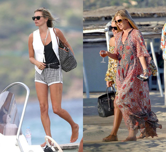 Kate Moss Vacation Style In St Tropez Fashion 39 S On Vacation