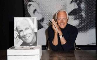 Giorgio Armani - book signing at Giorgio Armani boutique