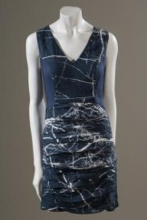 FIN, marble print dress, organic bamboo satin, fall 2010