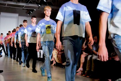 Calvin Klein Collection Spring 2014 Menswear show finale