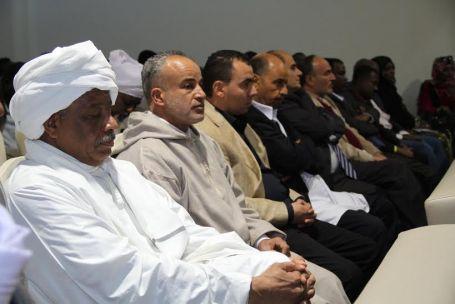 هيئة الأساتذة السودانيين بجامعة الزاوية تحتفل بالذكرى الستين لاستقلال جمهورية السودان بصبراتة 7
