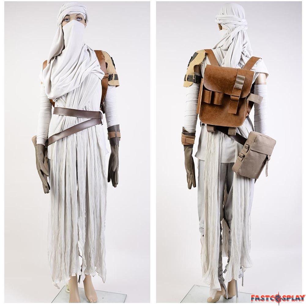 State Star Wars Force Awakens Rey Cosplay Costume Version Rey Star Wars Costume Accessories Rey Star Wars Costume Fabric baby Rey Star Wars Costume