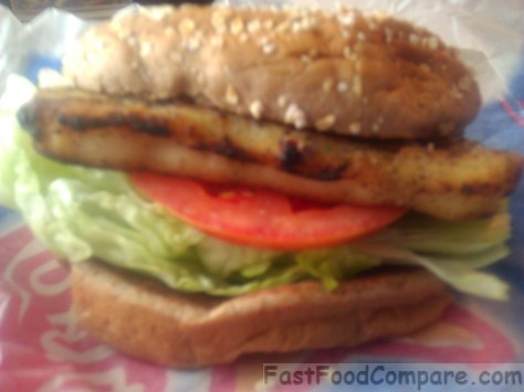 Carl s jr charbroiled atlantic cod fish sandwich fast for Fish sandwich fast food