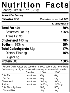 Jack in the Box BBQ Ultimate Cheeseburger Nutrition Facts