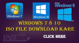 Windows 7 8 10 ISO File Download Kare