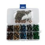 100stk 12mm Farvede Plastic Sikkerhedsøjne