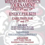 Second Annual Kansas City Weezers Tournament – July 9-10, 2015
