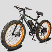 New Electric Fat Tire Bike Beach Snow Bicycle ebike 48v 500w Black/Orange 2016