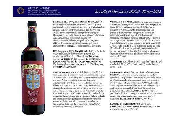 Fattoria dei Barbi | Rosso di Montalcino DOCG | Riserva 2012