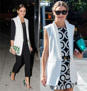 Olivia Palermo Sleevless Jacket Two Ways_Rachel Fawkes San Francisco Fashion Stylist