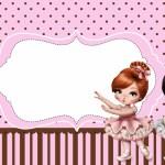 Jolie Bailarina – Kit Completo com molduras para convites, rótulos para guloseimas, lembrancinhas e imagens!