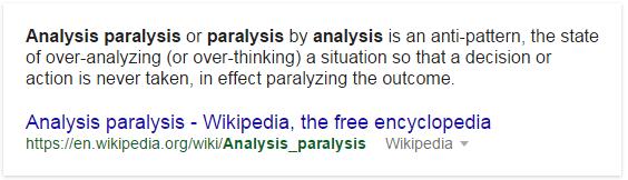 analysis apralysis