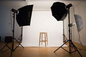 photo shoot in a studio