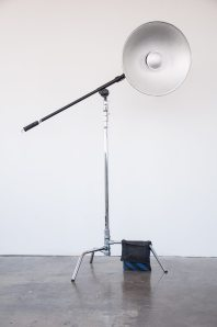 FD Photo Studio C-stand with a boom, head and a beauty dish, rotated