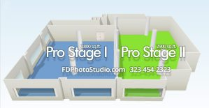 FD Photo Studio Pro Stages with Cyc wall