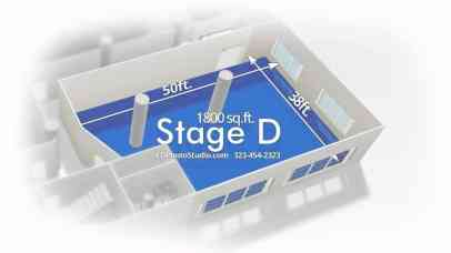 FD Photo Studio Stage D with Cyc wall