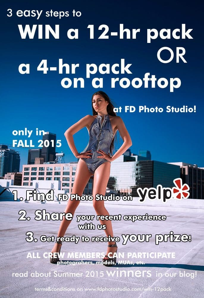 win 12 hr pack or 4 hr at a rooftop!