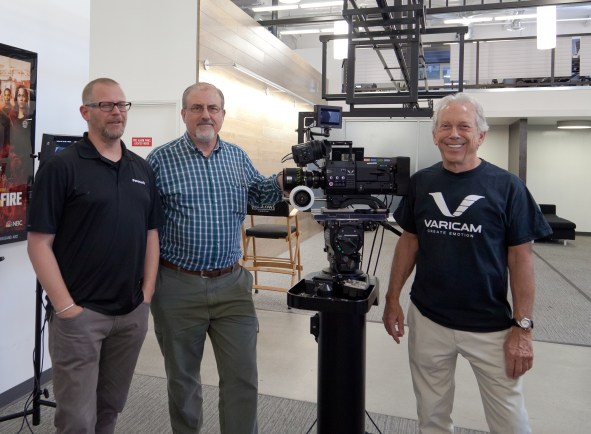 Aaron Latham-James, Panasonic Production Business Dev. Mgr. Steve Mahrer, Panasonic Senior Technologist Doug Leighton- Panasonic Technical Sales