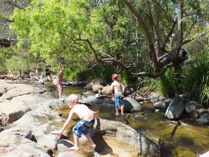 The creek does get busy but there is plenty of room for everyone.