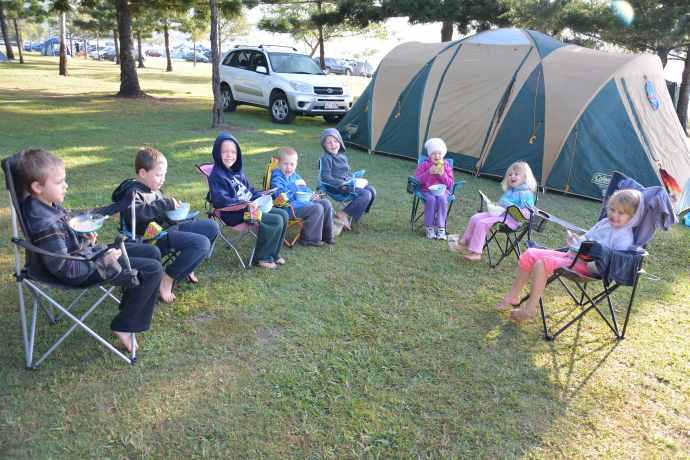 Fealy, Johnson and Hanstede kids - Lake Moogerah 2013