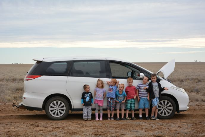Tessie Tarago carted the kids all over the dirt roads no problems!