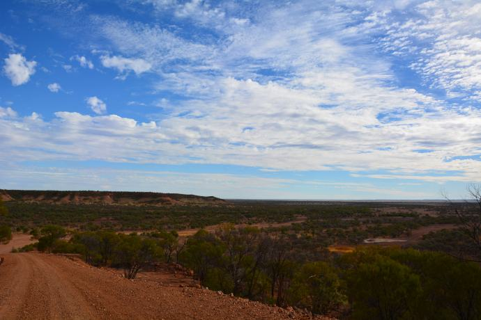 The view from the Nareen Rd Jumpup on the way to Lark Quarry