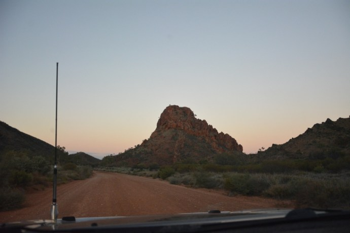 Drive in to Trephina Gorge