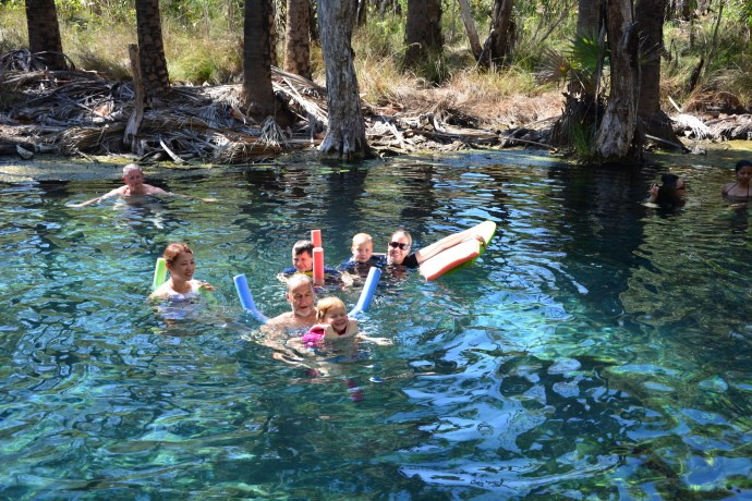 Floating in Bitter Springs with Poppy & Rema