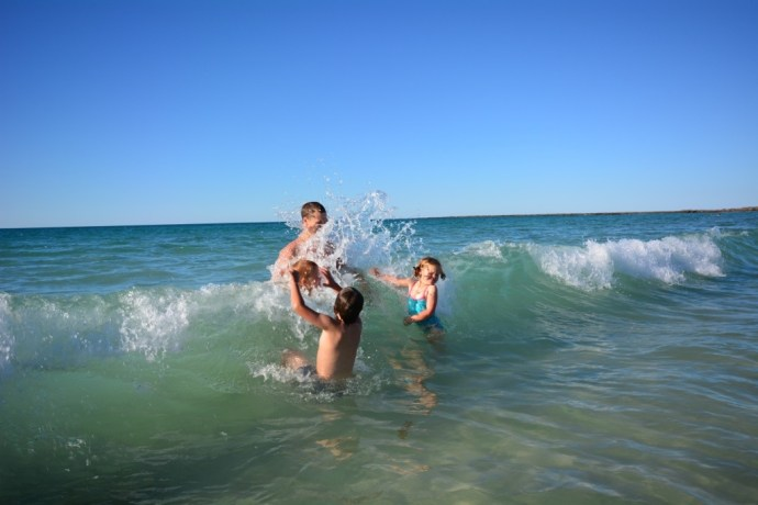 A swim at Cape Leveque