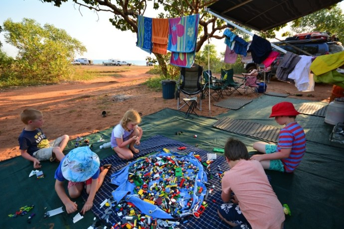 Our lovely shady spot - still with water views - the kids had lots of friends come to visit and play lego with them!