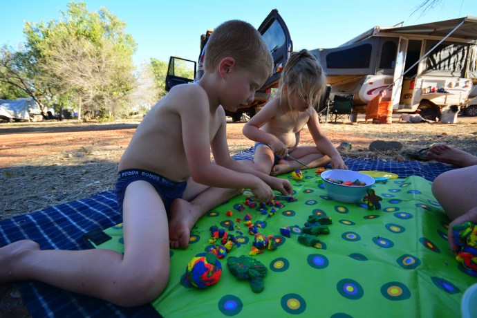 Fun with play dough - Windjana Gorge