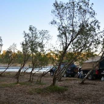 Our first campsite - Walsh River Crossing