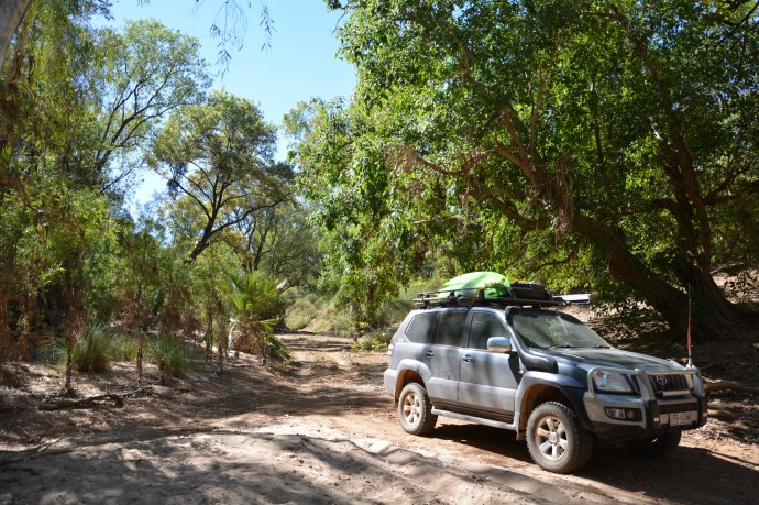 Peter Prado out doing some 4wd exploring along the Gregory River