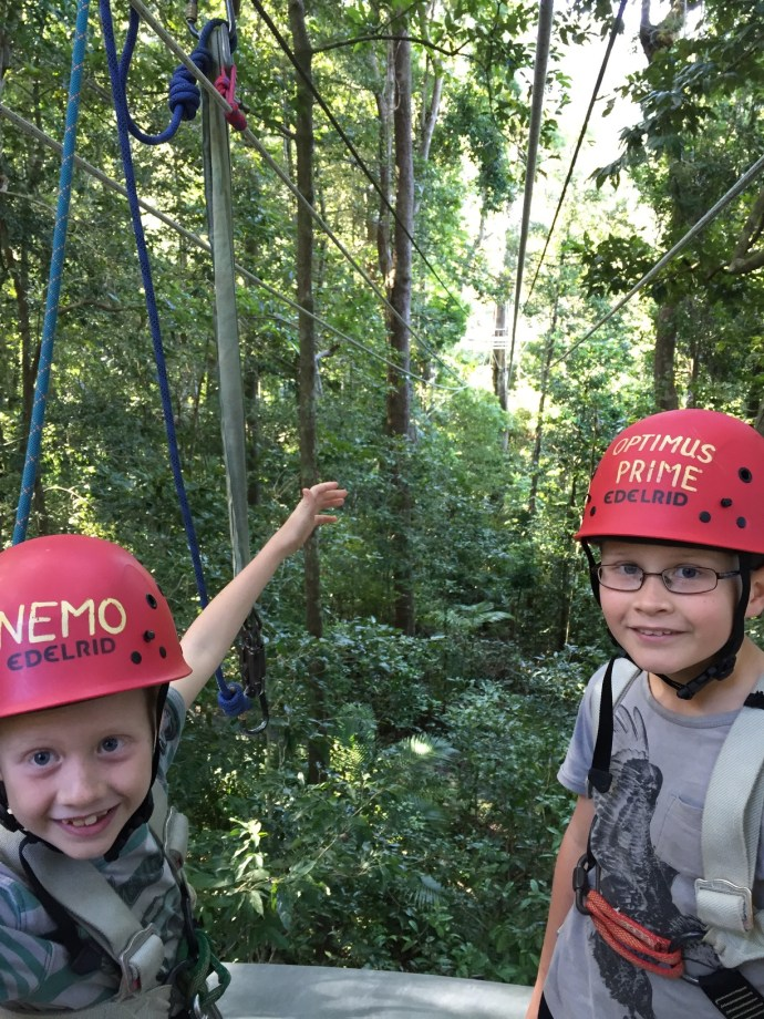 Boys went Jungle Surfing in the Daintree Rainforest