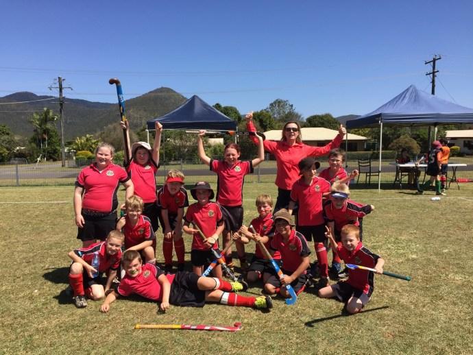 The boys won their Under 10 Hockey Grand final!