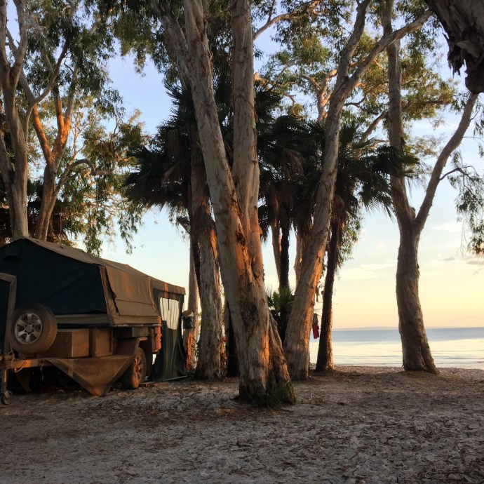 One of the best campsites we have every found at Elim Beach