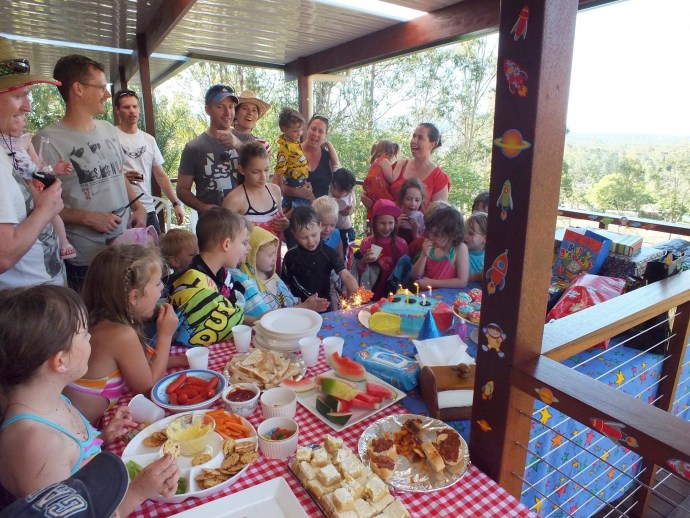 Fealy Family in there somewhere - Jack's 6th Birthday!