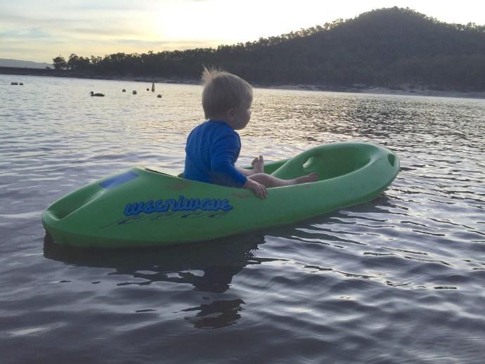 Kipp loved the Kayak too